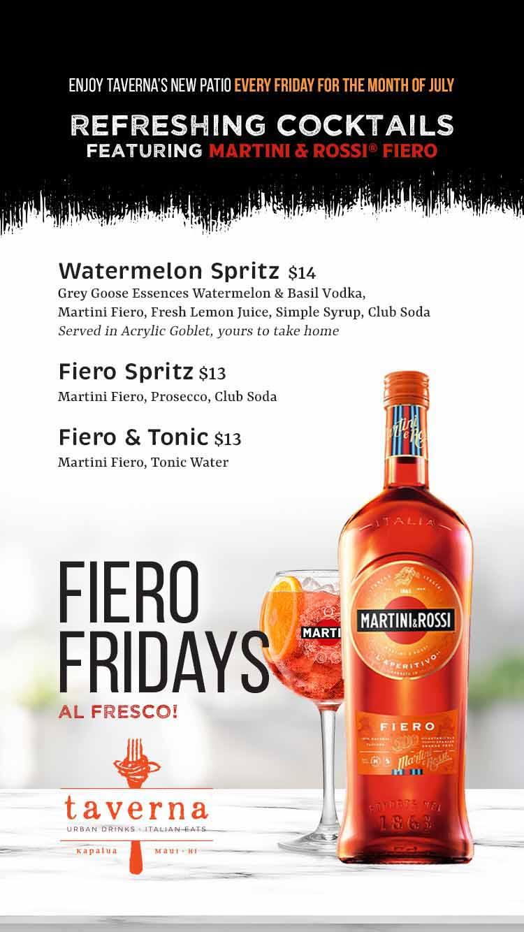 TAVERNA Fiero Fridays