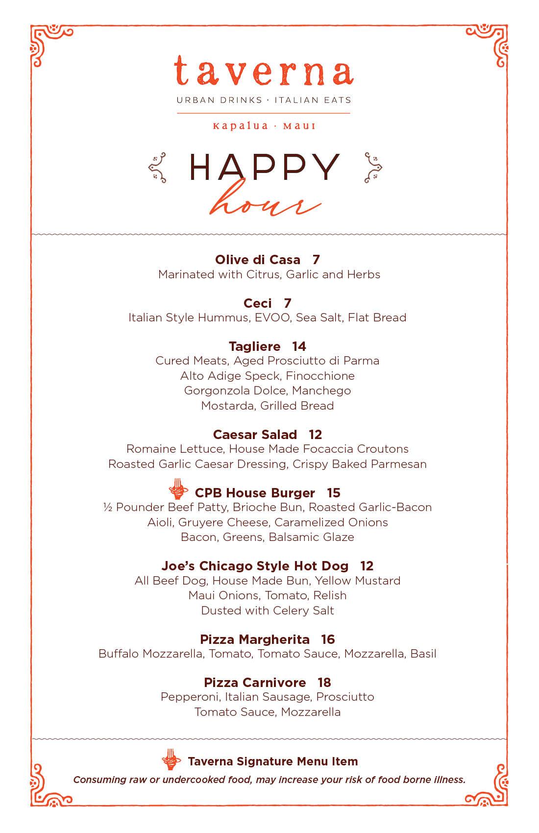 Taverna Happy Hour